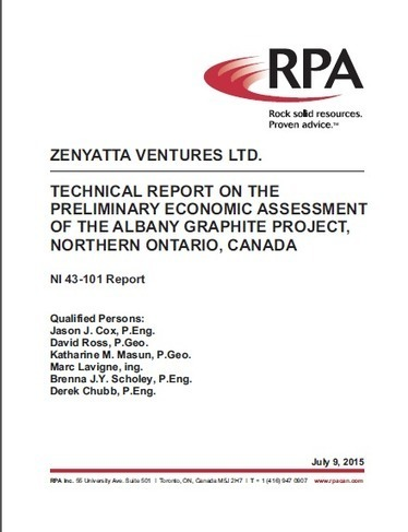 Zenyatta - Zenyatta's PEA Conceptual Mine Layout and Technical Report | Lomiko | Scoop.it