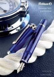 Pelikan Souverän 605 Marine Blue Special Limited Edition Fountain Pen | Writing instruments | Scoop.it