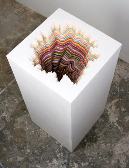 Jen Stark: Pedestal | Art Installations, Sculpture, Contemporary Art | Scoop.it