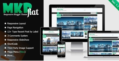 MKRflat v1.1- Responsive Magazine & News Blogger Theme - Themesplug.com | Blogger themes | Scoop.it