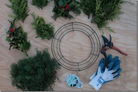 How to Make Your Own Christmas Wreath: With Giveaway! | North Coast Gardening | Garden to Table | Scoop.it