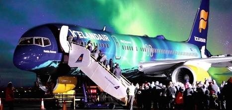 Cette compagnie aérienne simule une aurore boréale à bord d'un avion | Agents de voyages : ça bouge ! | Scoop.it