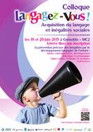 Accueil - Colloque Langagez Vous! - Acquisition du langage et inégalités sociales Les 19 et 20 juin 2013 à Grenoble - MC2   éducation populaire, nationale, numérique, non formelle...   Scoop.it