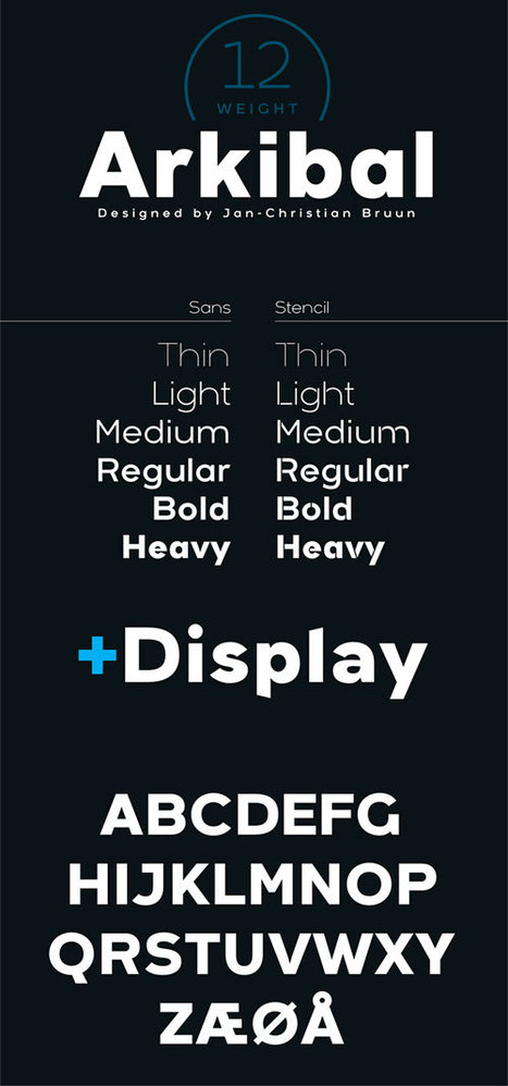 Font Deal | Arkibal Sans - $3 until 13 March (rrp $11) | Design Freebies & Deals | Scoop.it