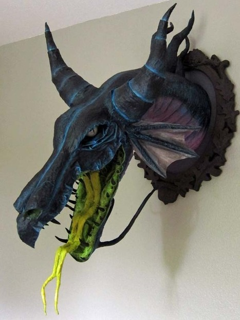 Paper Mache Maleficent Dragon Head Is Both Beautiful and Terrifying | Frozen | Scoop.it