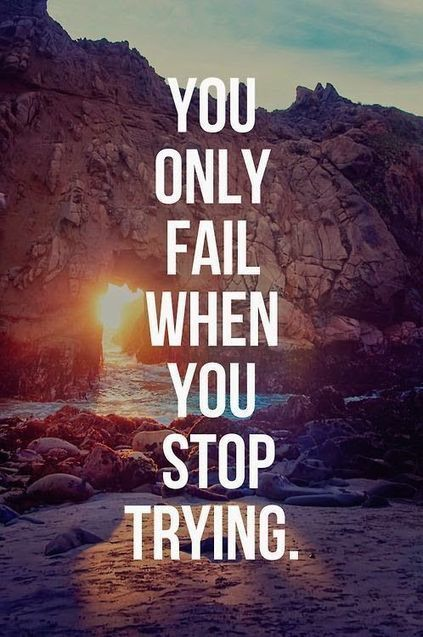 you only fail|Inspirational Quotes | allwaysbehappy | Scoop.it