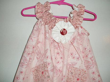 Cute Handmade Pale Pink Fairy Print Girls Sundress with pockets and embellishments SIZE 2 | Cool Stuff | Scoop.it