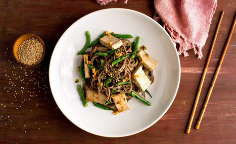 Skillet Soba, Baked Tofu and Green Bean Salad — Recipes for Health   Anti-Agein   Scoop.it
