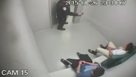 Video of cop macing handcuffed teens in holding cell surfaces, suddenly an investigation begins | Police Problems and Policy | Scoop.it