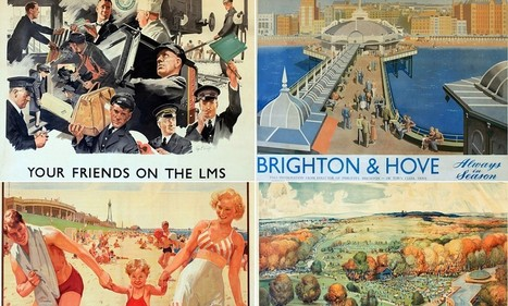 Collection of vintage posters worth £15,000 from the Golden Age of British travel is found under carpet of a rundown house | British Genealogy | Scoop.it