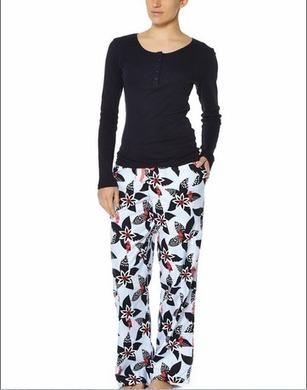 Shop Pyjama Sets | Pickles and Loop Hibiscus Pyjama set with Navy top  | SleepwearOnlin | Ladies Sleepwear | Scoop.it