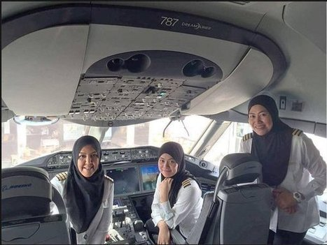 An all-female crew lands a plane in Saudi Arabia. But they can't drive from the airport. | AP Human Geography Digital Knowledge Source | Scoop.it