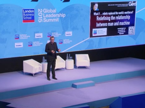 A new relationship of man and machine - Futurist Speaker Gerd Leonhard at LBS' GLS 2015 - YouTube | leapmind | Scoop.it