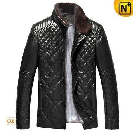 Jerusalem Mens Down Filled Leather Jacket CW804078 | Leather Blazer Jacket | Scoop.it