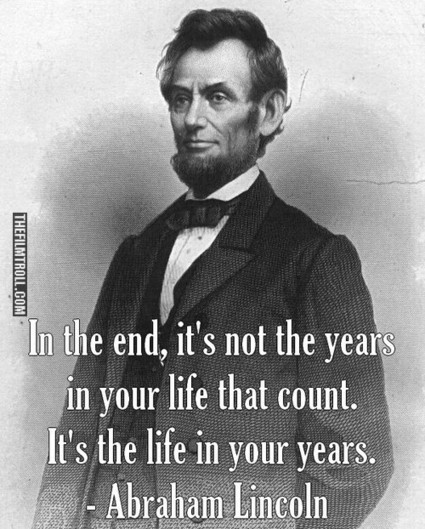 Abraham Lincoln's quote about life | quetes | Scoop.it