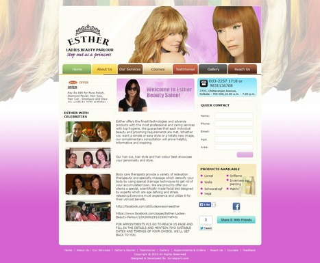 Salon Website : Get a Self-Administered Salon Website ready within 24 hours! | PopularClones.Com : Scriptgiant Softwares Marketplace | Scoop.it