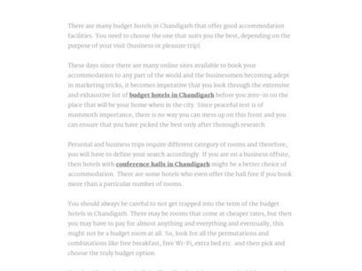 budget hotels in Chandigarh   Hotel Raj Shree   Scoop.it