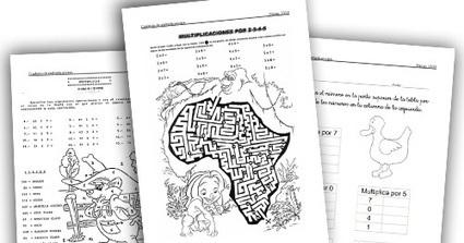 RECURSOS PRIMARIA | Cuadernillo de multiplicaciones ~ La Eduteca | FOTOTECA INFANTIL | Scoop.it