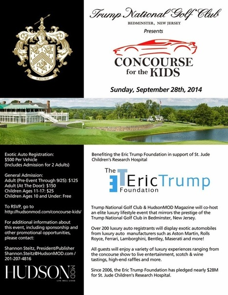 Trump National Golf Club will host 'Concourse for the Kids' benefiting St. Jude Children's Research Hospital (9/28) ~ a rain of thought | A Rain of Thought- Music & Entertainment | Scoop.it