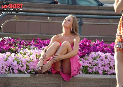 Pink dress girl upskirt | voyeur | Scoop.it