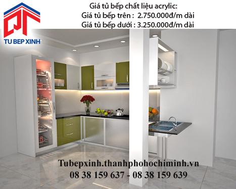 Tủ bếp acrylic TB3503 - Tu-bep-acrylic-TB3503 - tu van du hoc uy tin|du hoc gia re - | TỦ BẾP MFC - GIÁ TỦ BẾP MFC | Scoop.it