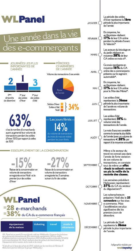 Infographie : une année dans la vie d'un e-commerçant | Réussissez votre e-logistique | Scoop.it