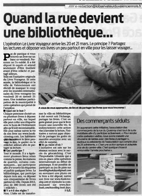 Quand la rue devient une bibliothèque | Revue de presse | Scoop.it
