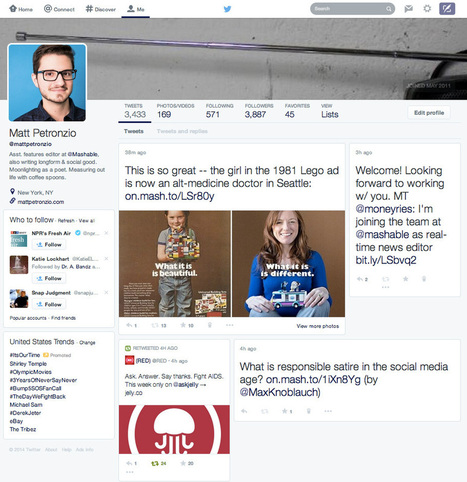 Twitter Rolling Out Revamped Look Resembling Facebook | Communication Advisory | Scoop.it