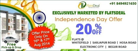 Flats and Apartments offers on Independence Day 2014 | FlatsDeal | Scoop.it