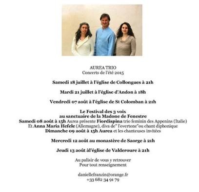 Aurea : les concerts de l'été | Nissa e Countea | Scoop.it