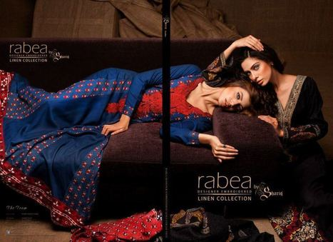 Rabea Designer Embroidered Linen Winter Collection 2012 | Latest Fashion News of Pakistan | Scoop.it