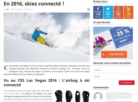 Ski ? En 2016 c'estréalité augmentée et objets connectés ! | Sport 2.0, Sport digital, applications sportives, réseaux sociaux sport, sport connecté | Scoop.it