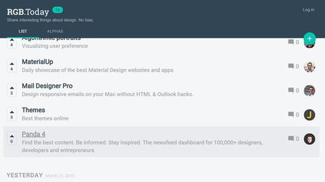 Rgb.Today es el ProductHunt de los recursos de diseño | GeeksRoom | Geeky Tech-Curating | Scoop.it