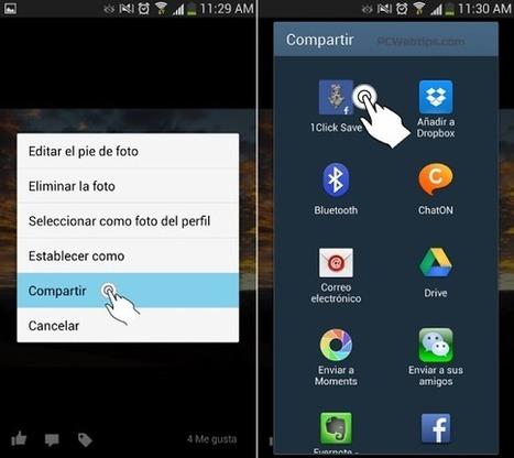 Como Descargar Fotos de Facebook en Android   PCWebtips.com   Android - Aplicaciones y Tips   Scoop.it
