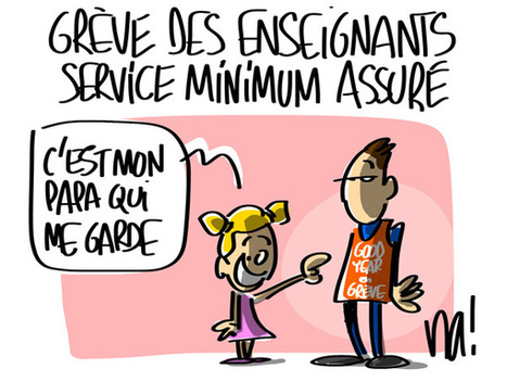 Grève des enseignants, service minimum assuré | Baie d'humour | Scoop.it