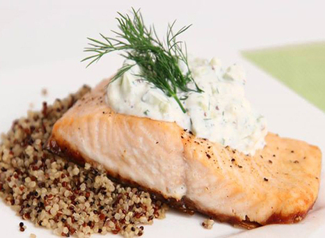 Sauce Recipe-Seared Salmon with Dill Cucumber Sauce | recipe | Scoop.it