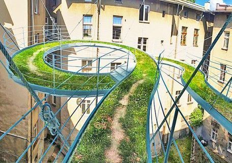 Suspended green pathway is an unexpected alternative to a balcony   Inhabitat - Sustainable Design Innovation, Eco Architecture, Green Building - Architecture Times   Sustainable Architecture   Scoop.it