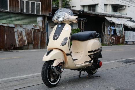 Thaiscooter.com - Vespa LXสีครีมแต่งเรียบๆ | thaiscooter | Scoop.it