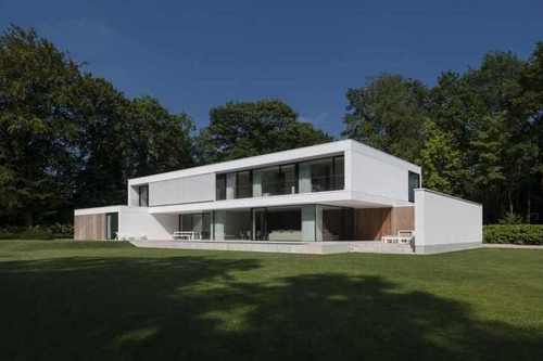 R novation en maison contemporaine par hs residence bruges belgique construire tendance for Architecture maison en belgique