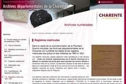 Les registres matricules de Charente sont en ligne | Rhit Genealogie | Scoop.it