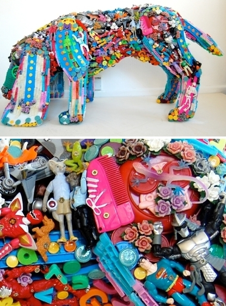 "Used Toys Made Into Art | ""Make Art Not War"" 