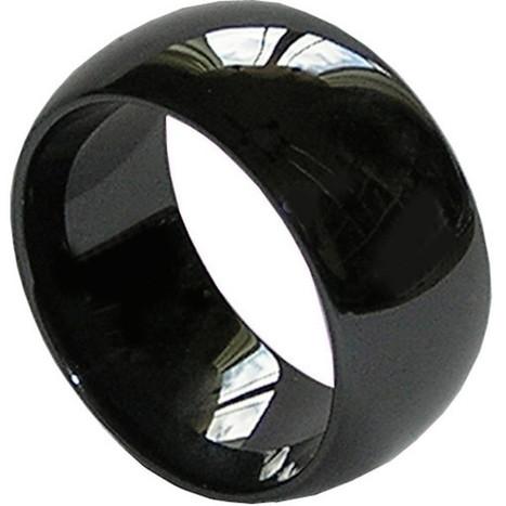 GESTALT® Black Ceramic Ring - 10mm width. Domed & Polished Design.   Jewelry Trends   Scoop.it