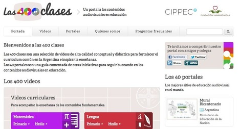Las 400 clases. Una biblioteca audiovisual para educar y aprender en línea | RECURSOS PARA EDUCACIÓN Y BIBLIOTECAS | Scoop.it