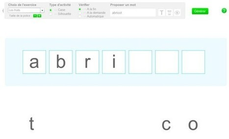 Reconstituer un mot en plaçant les lettres dans l'ordre | Moisson sur la toile: sélection à partager! | Scoop.it