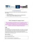10 Great Tools for Language Teachers | Babylon | Scoop.it