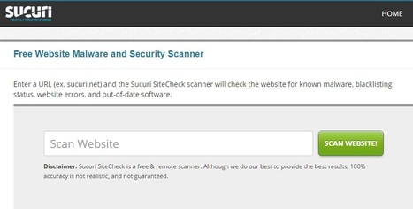 Free Website Malware and Security Online Scanner | Sucuri Security | CyberSecurity | Building the Digital Business | Scoop.it