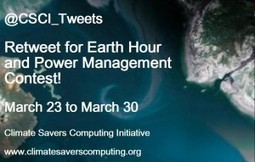Retweet for Earth Hour and Power Management Rules and Prizes | Climate Savers Computing Initiative | Sustainability Management | Scoop.it