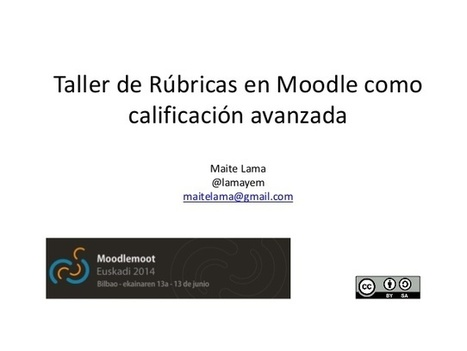 Uso de rúbricas en Moodle como calificación avanzada | Libros disposibles online | Scoop.it