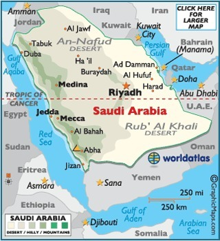 the map of Saudi Arabia | Girls of Riyadh: women rights | Scoop.it