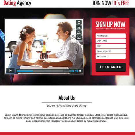 Dating landing page design templates for your online dating website. | buy landing page design | Scoop.it